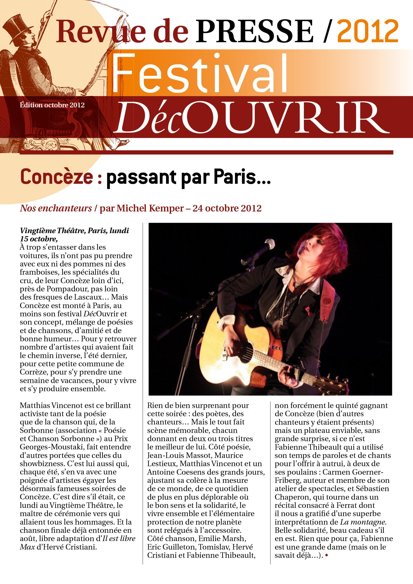 Revue de Presse FDC 2012-1