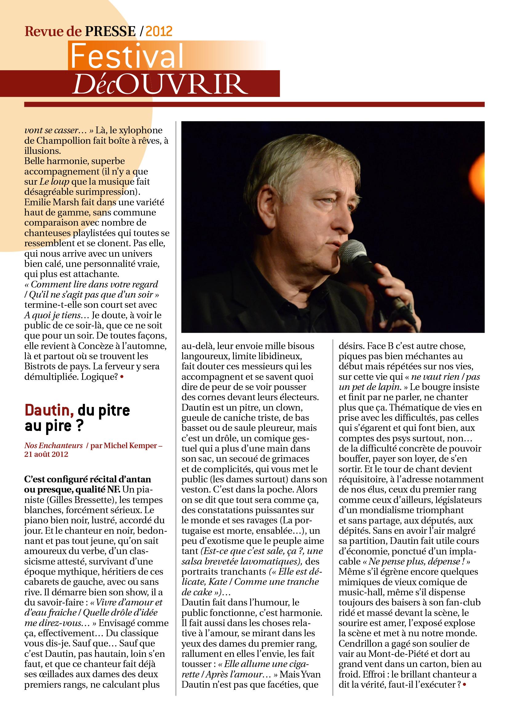 Revue de Presse FDC 2012-4