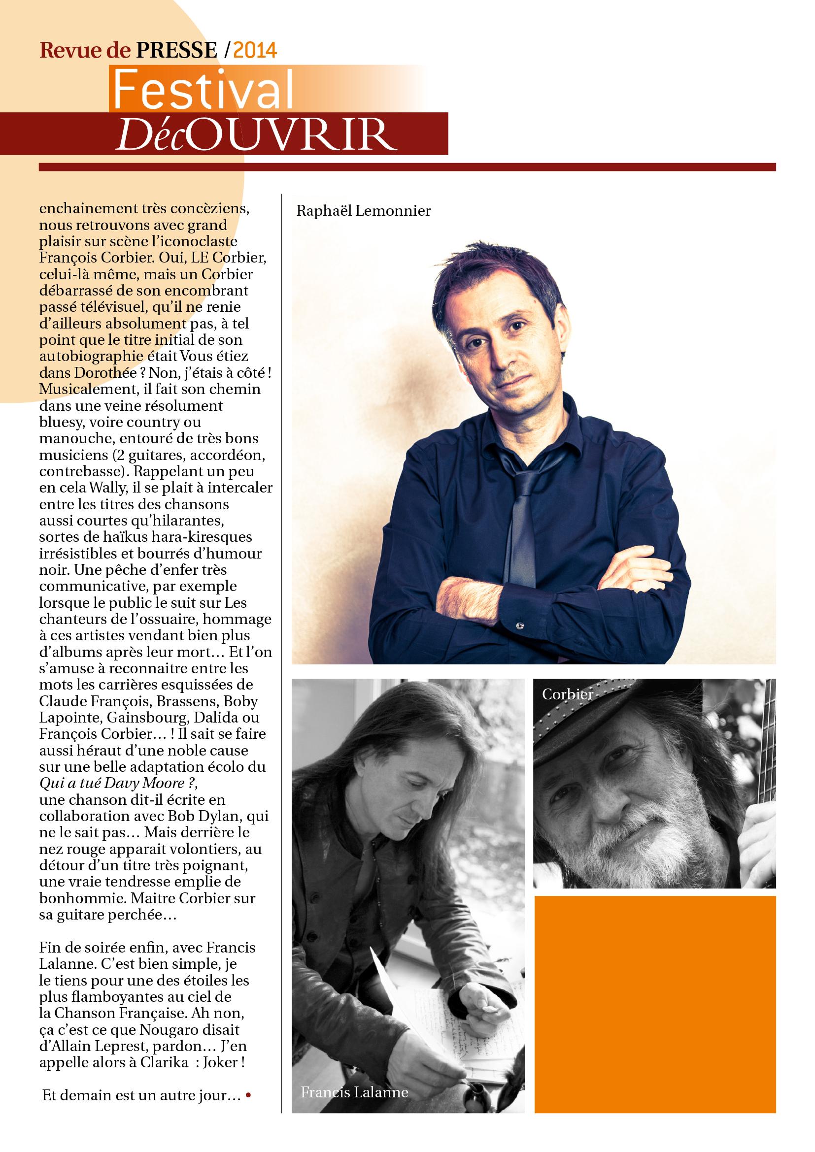 Revue de Presse FDC 2014-2