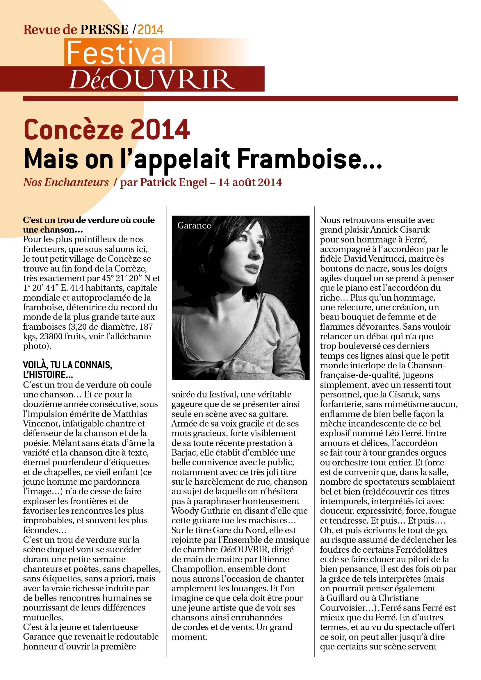 Revue de Presse FDC 2014-3
