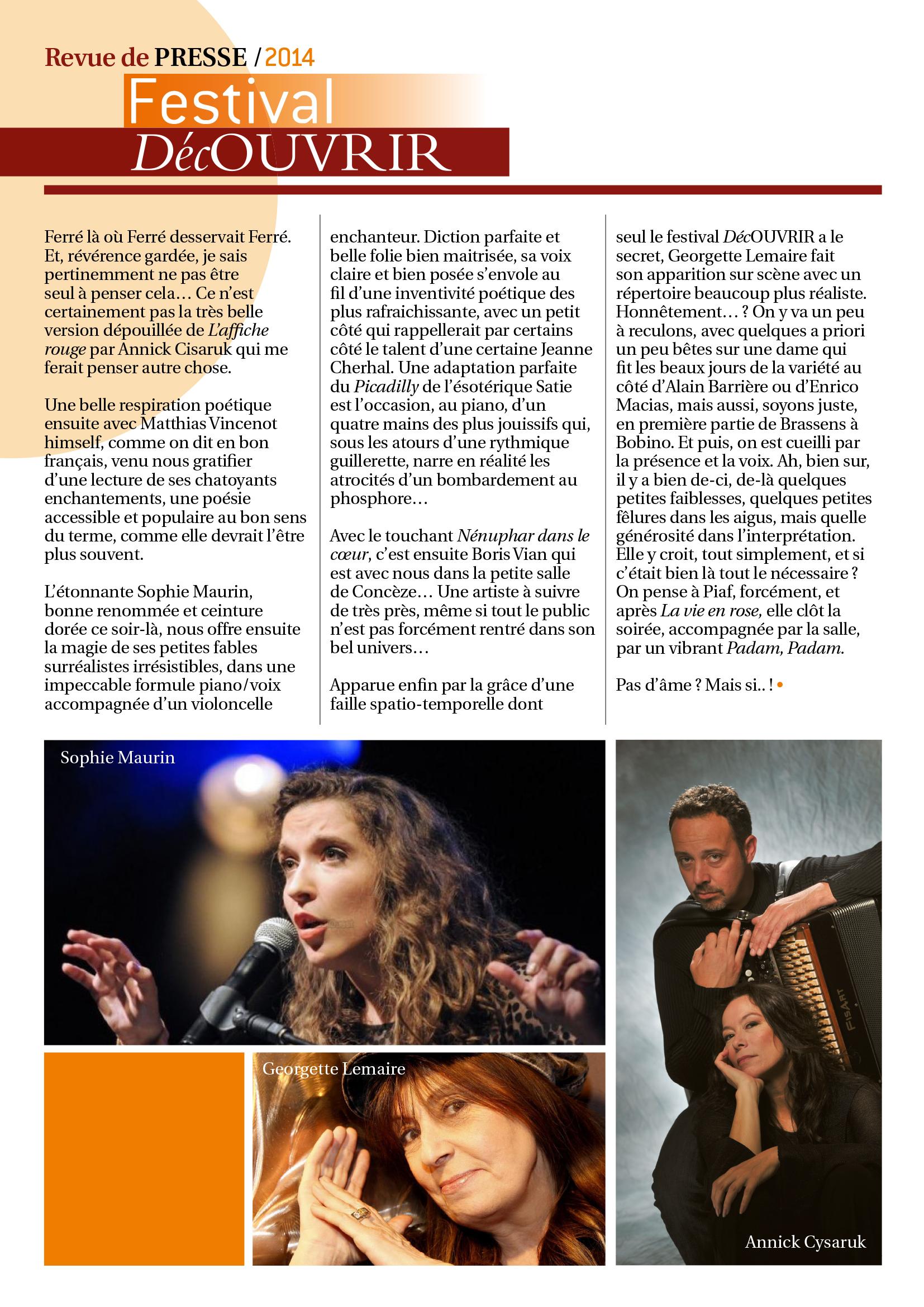 Revue de Presse FDC 2014-4