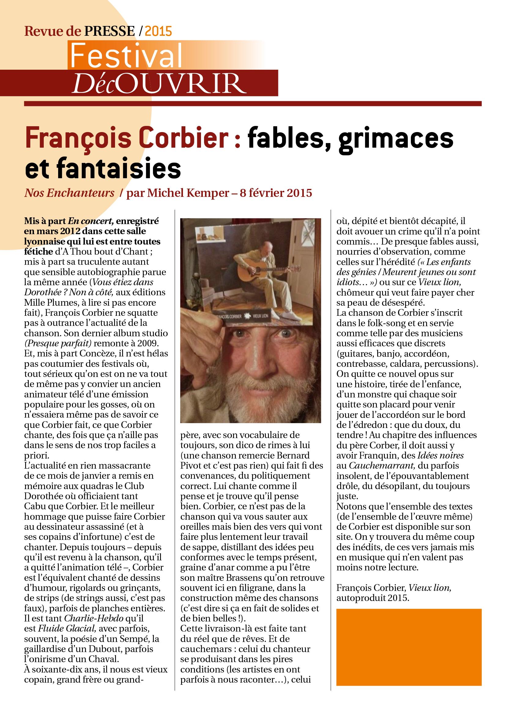 Revue de Presse FDC 2015-2