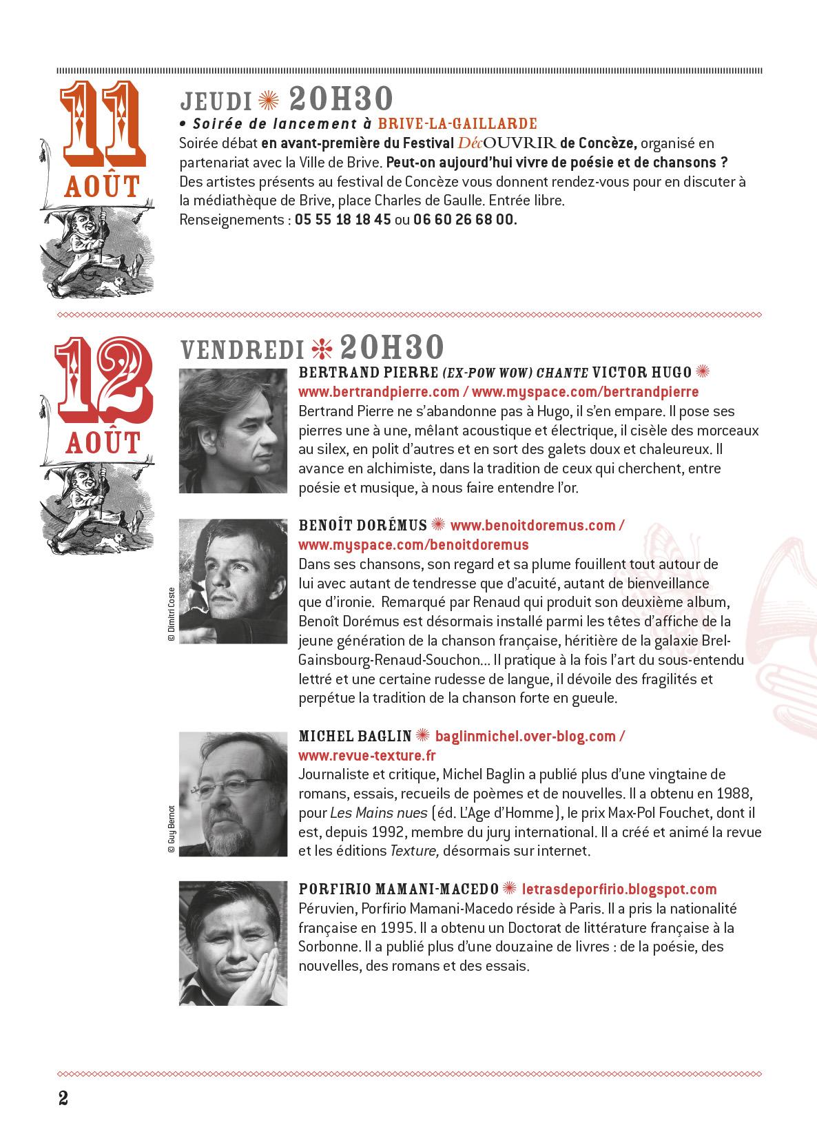 programme Conceze 2011-2
