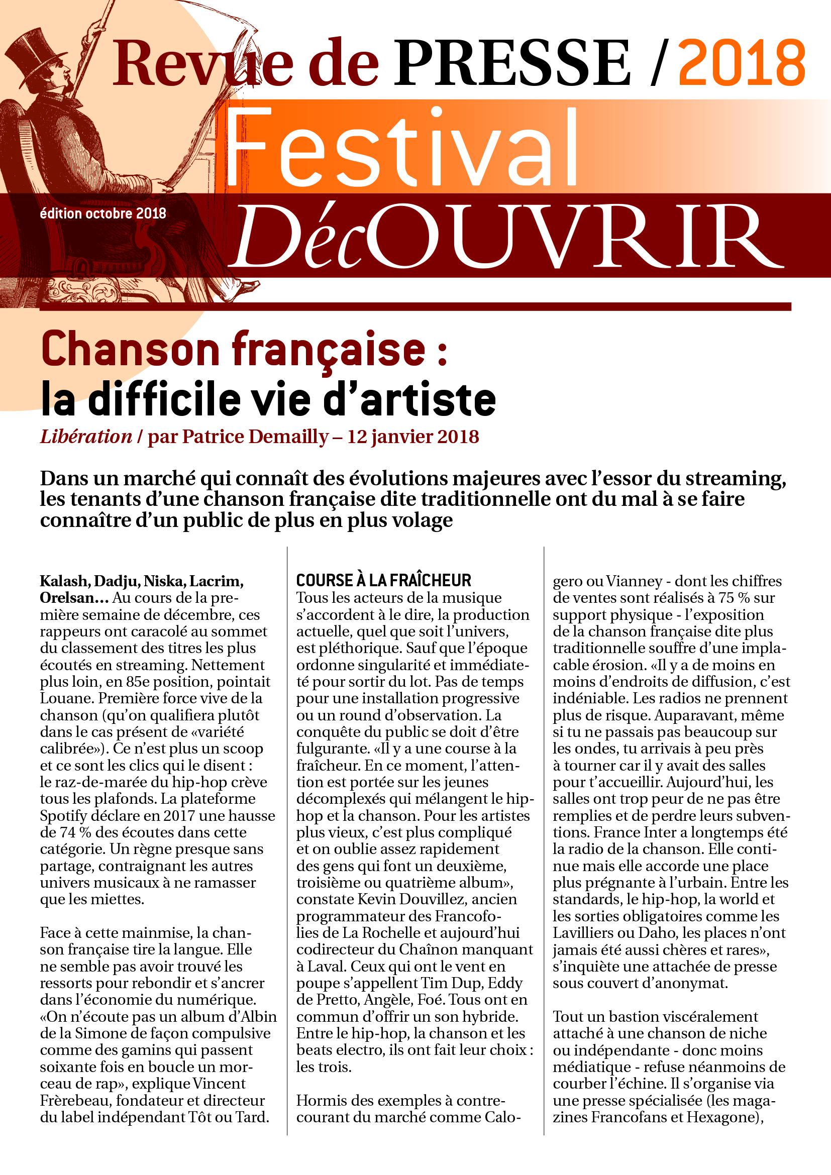 Revue de Presse FDC 2018-1