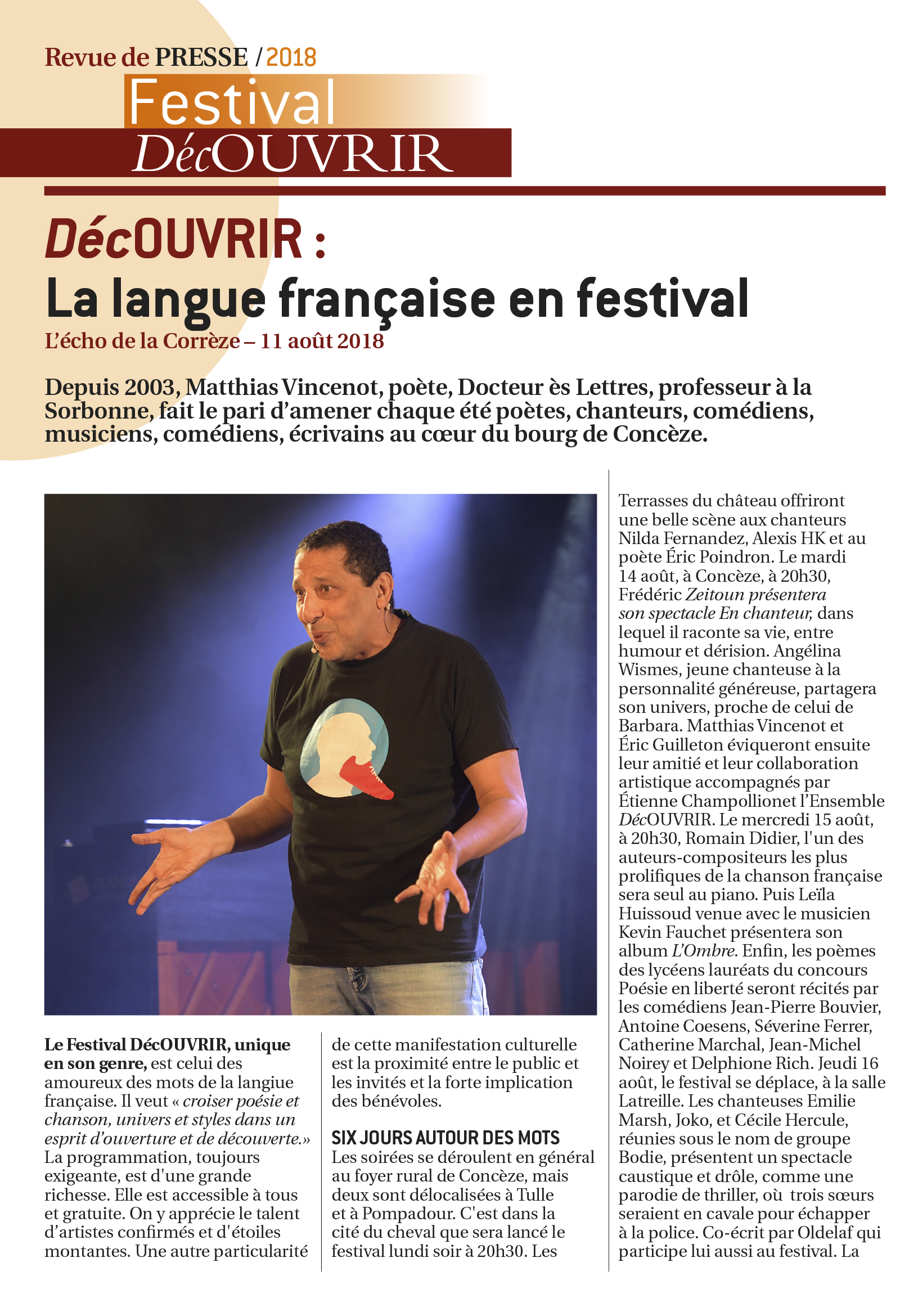 Revue de Presse FDC 2018-4