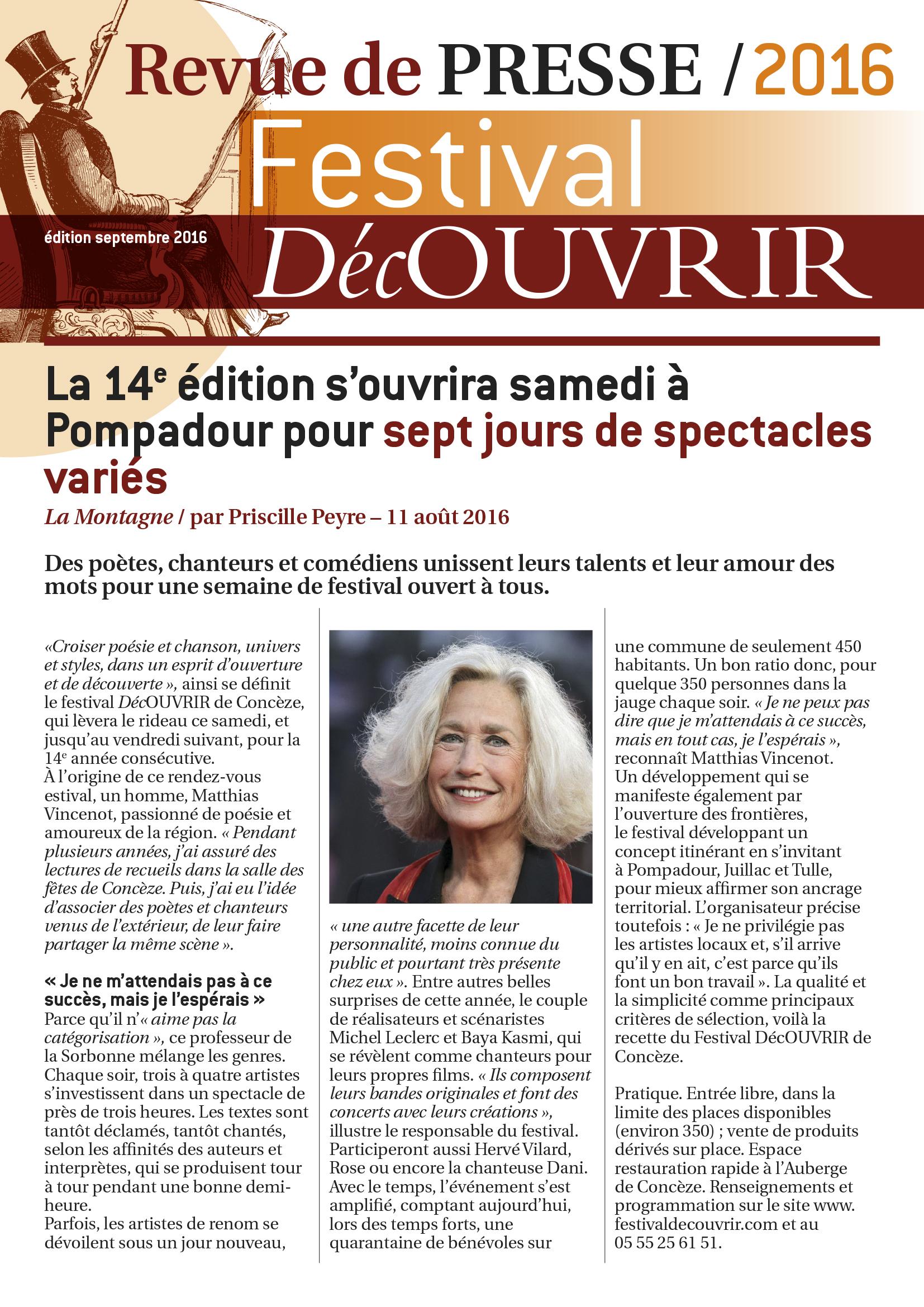 Revue de Presse FDC 2016-1