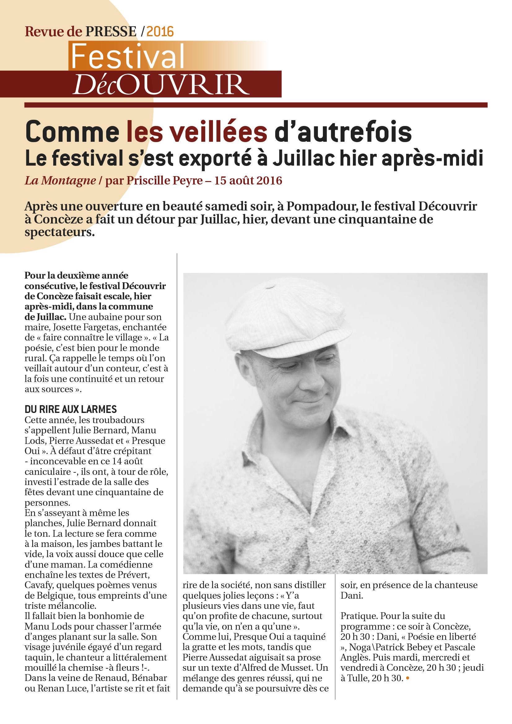 Revue de Presse FDC 2016-2