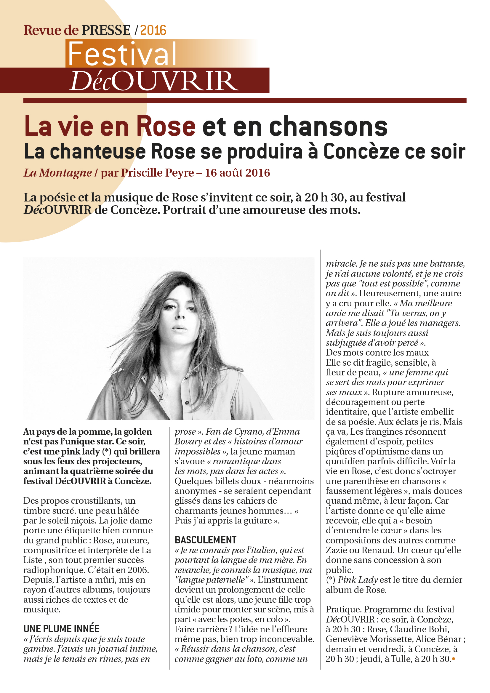 Revue de Presse FDC 2016-4