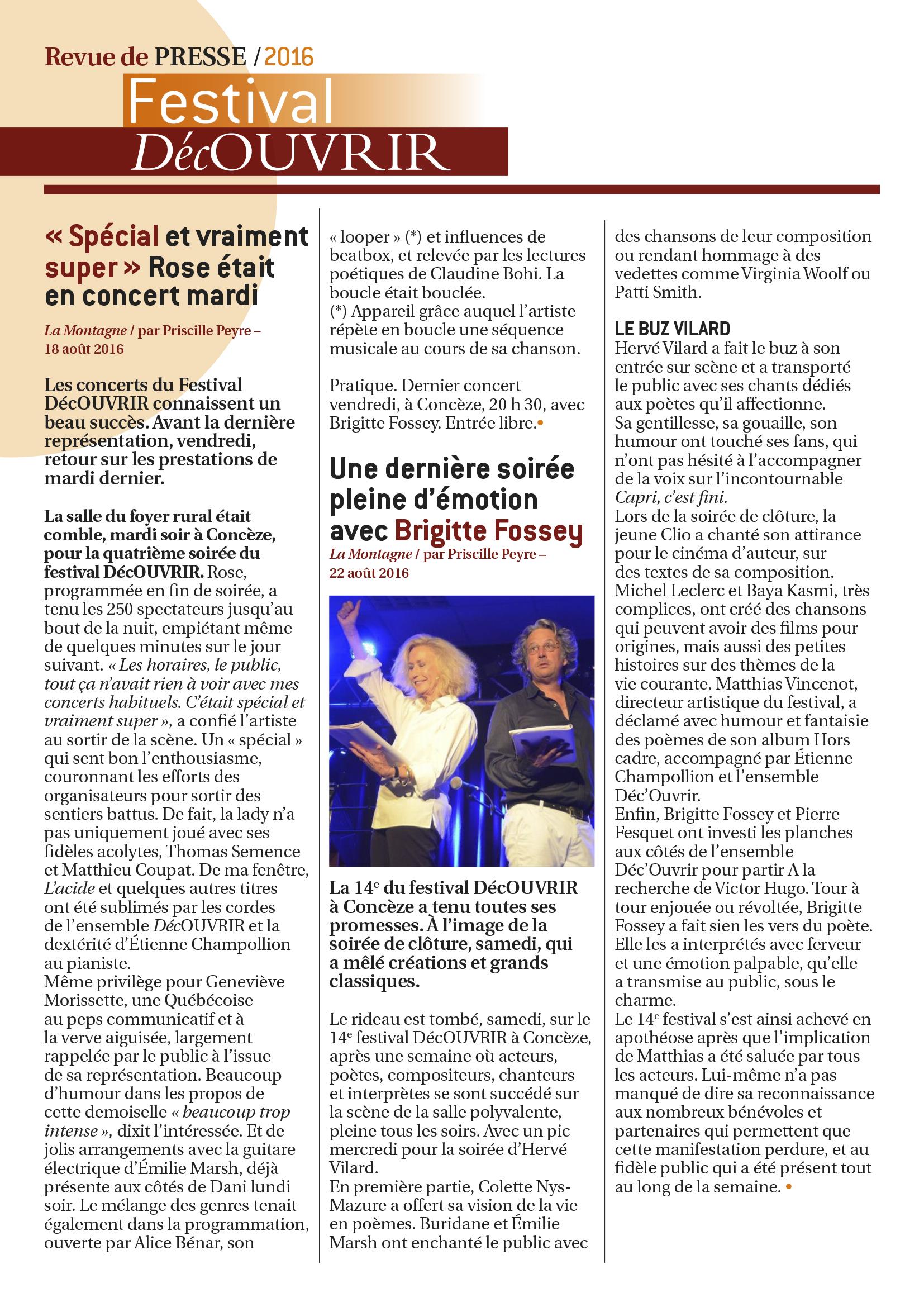 Revue de Presse FDC 2016-5