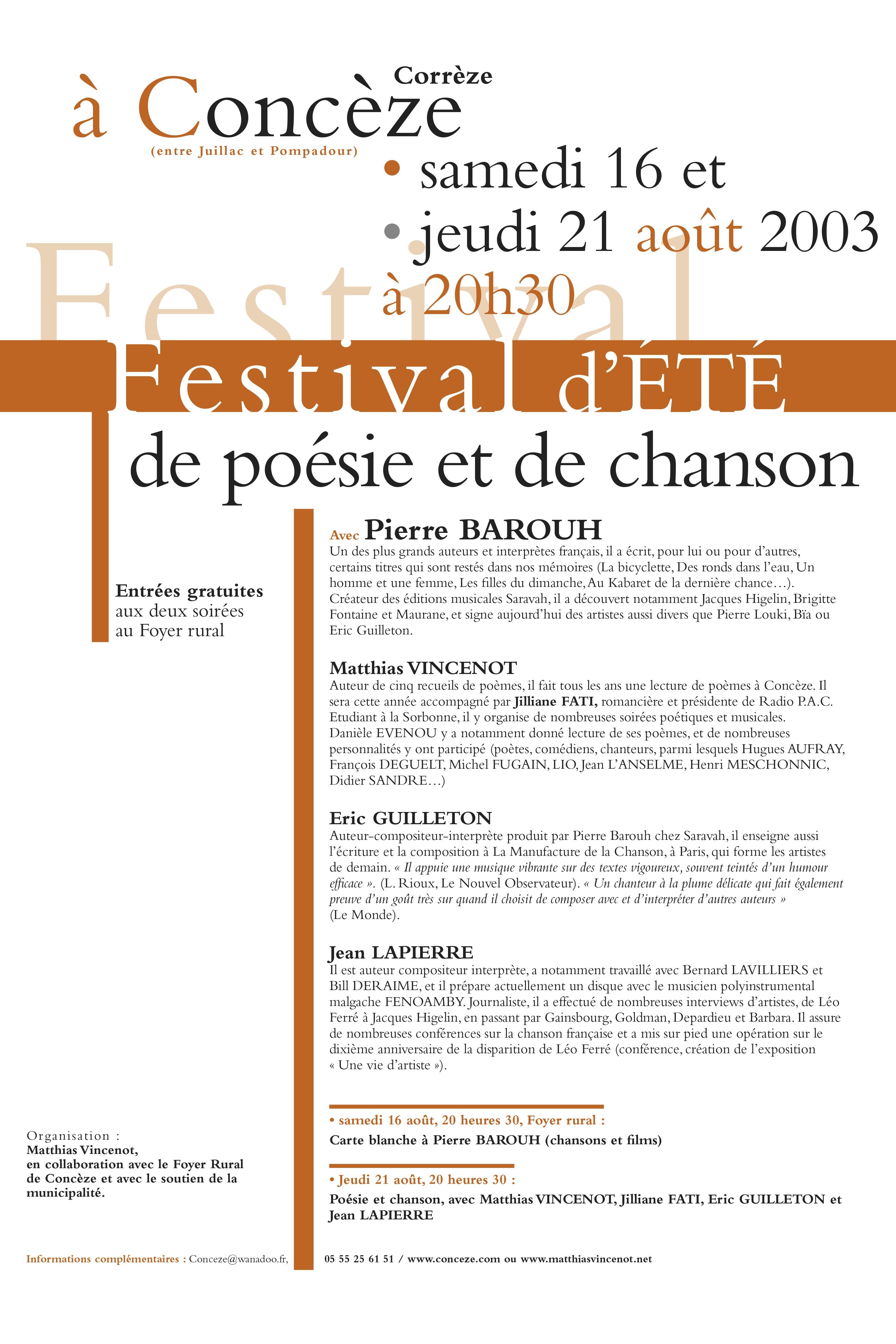Aff. Conceze 2003