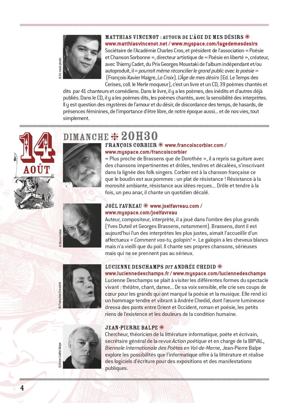 programme Conceze 2011-4
