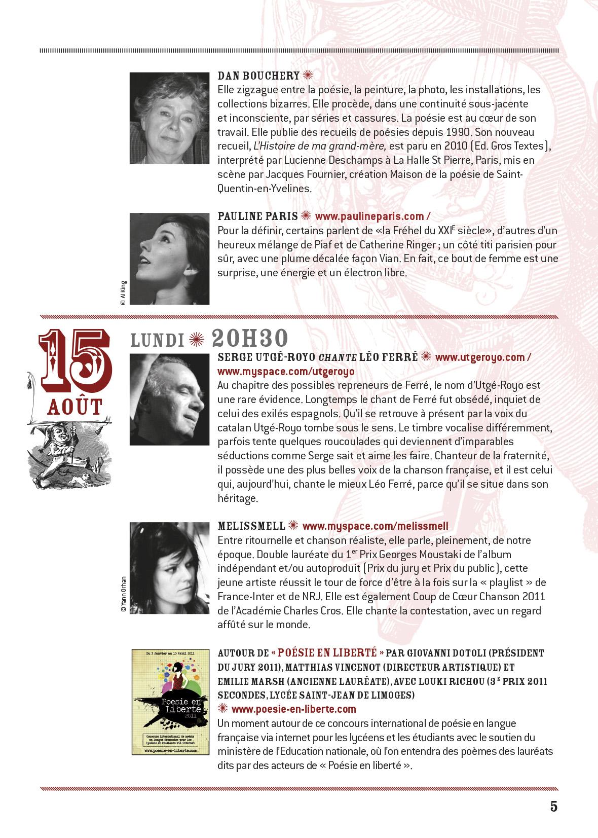 programme Conceze 2011-5