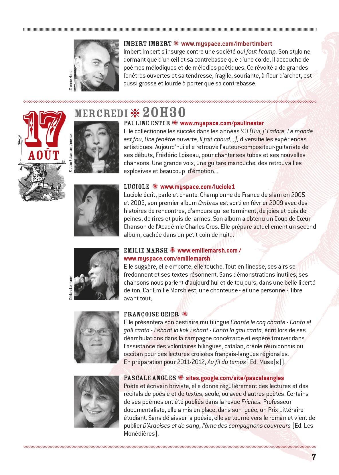 programme Conceze 2011-7